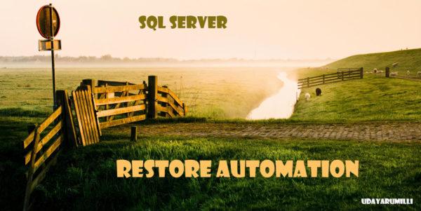 Automate database restore sql server
