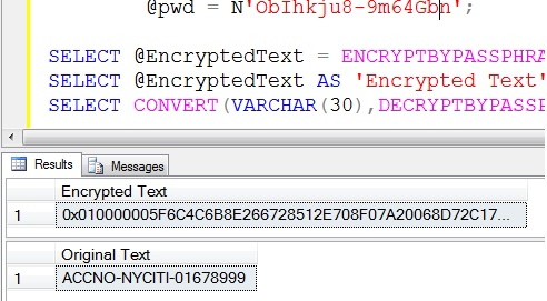 How to Encrypt and Decrypt String in Sql Server