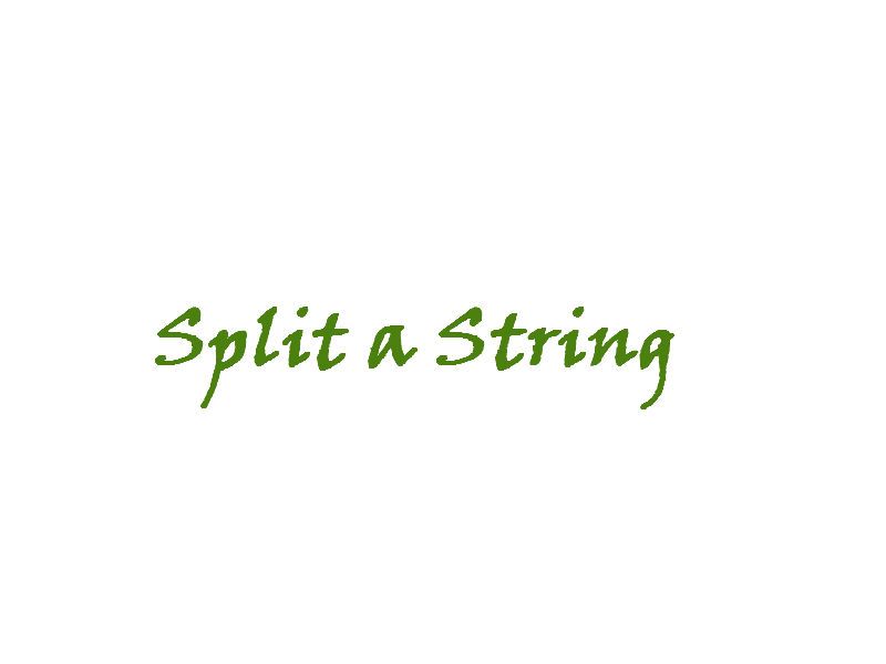 How to split a string in sql server