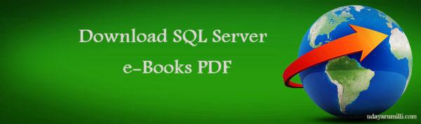 SQL Server e-books free downloads