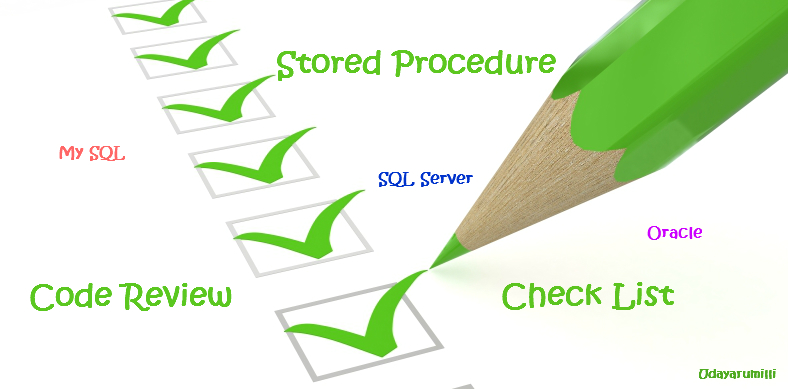 Stored Procedure Code Review Checklist