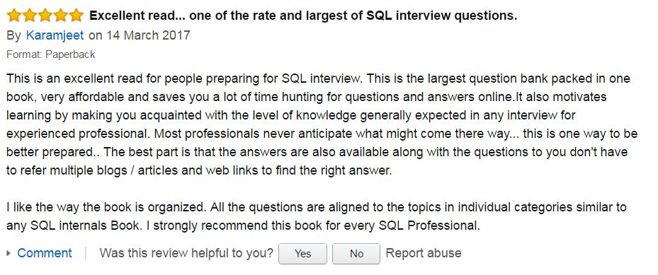 SQL THE ONE Reviews Amazon