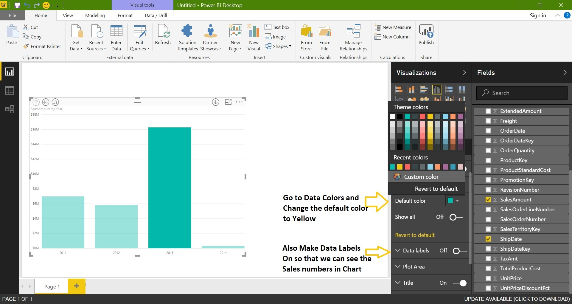 Learning Microsoft Power BI Lesson 3